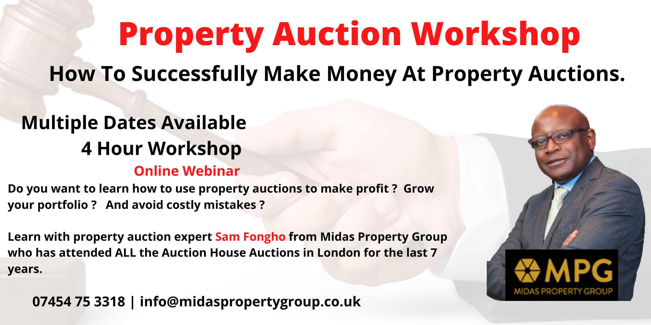 Property Auction Workshop – How Make Money From Auctions